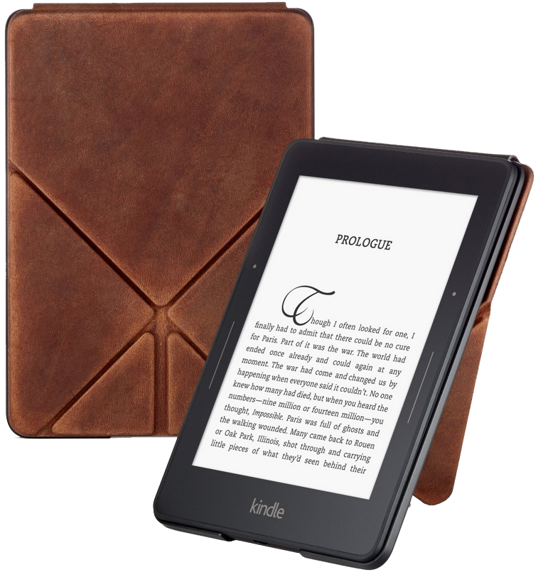 Обложка Amazon Kindle Voyage Brown Leather LE